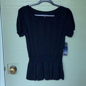 NWT- ANNE KLEIN- size medium black blouse